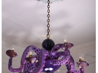 Octopus chandelier by Adam Wallacavage