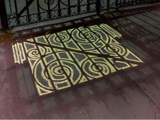 Chalk + Shadows = Sweet Sidewalk Art