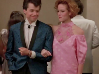 I love Pretty in Pink, but that prom dress she makes at the end is hideous.
