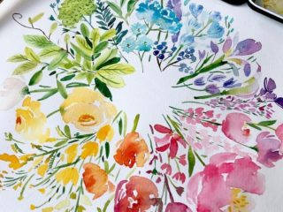 Watercolor Color Wheel by Enya Todd